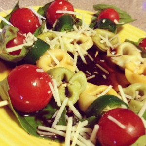 Tomato Basil Tortellini Skewer
