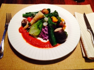 Mini Veg with Red Pepper Coulis