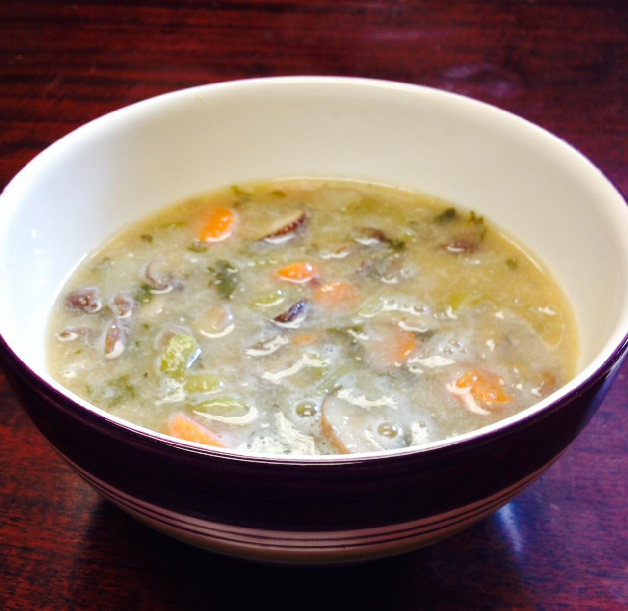 Mushroom and Wild Rice Soup   ONE HOT VEGGIE
