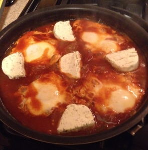 Poached Eggs with Goat Cheese