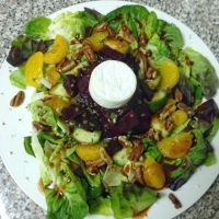 Beet and Mandarin Orange Salad