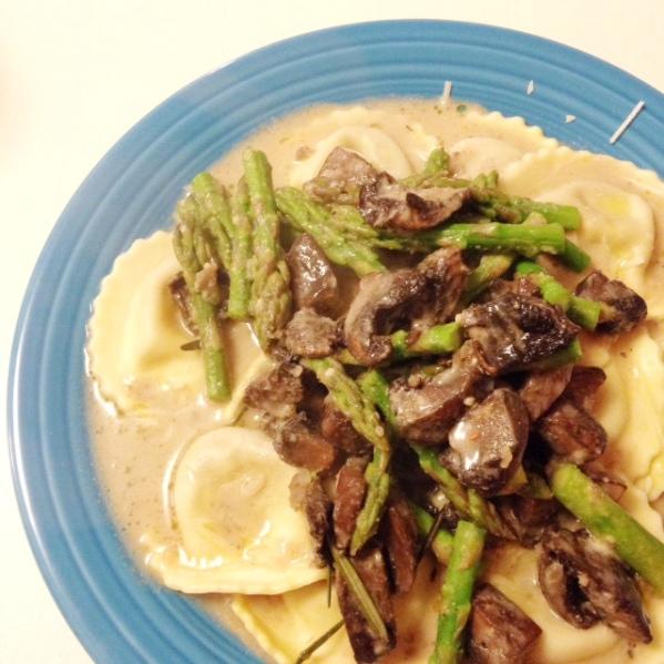 mushroom-asparagus-ravioli