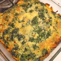 Spinach Quiche with Sweet Potato Crust